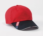 Harriton Cap: 100% Cotton Unstructured with Sandwich Bill (M840)