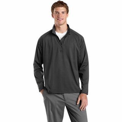 Sport-Tek Men's Sweatshirt: Sport-Wick Stretch 1/2-Zip Pullover (ST850)