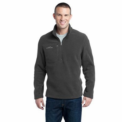 Eddie Bauer Men's Jacket: 1/4 Zip Fleece Pullover with Chest Pocket (EB202)