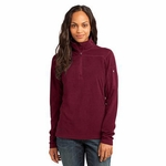 Eddie Bauer Women's Jacket: 1/4 Zip Grid Fleece Pullover (EB221)