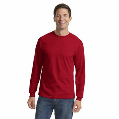 Port & Company Men's T-Shirt: Long Sleeve Cotton Crewneck(PC54LS)