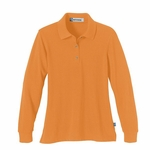 Extreme Women's Polo Shirt: Long Sleeve Pique With Teflon (75042)