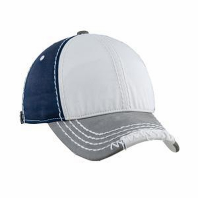 District Cap: Distressed Leather Bill(DT611)
