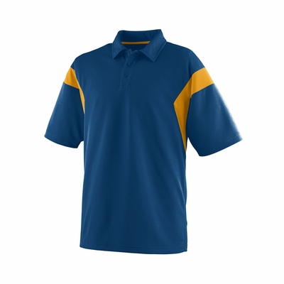 Augusta Sportswear Men's Polo Shirt: 100% Polyester Mesh Colorblock Textured Sideline Sport (5075)