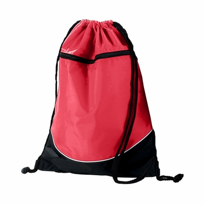 Augusta Sportswear Backpack: Nylon 14 x 18-Inch Tri-Color Drawstring (1920)