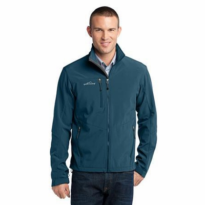 Eddie Bauer Men's Jacket: Three Layer Poly/Spandex Soft Shell (EB530)