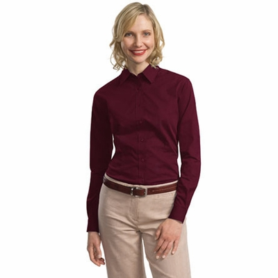Port Authority Women's Dress Shirt: Tonal Pattern Easy Care Long Sleeve (L613)