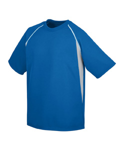 Augusta Sportswear Youth Jersey: 100% Polyester Wicking Mesh Contrast Color Raglan Sleeves (896)