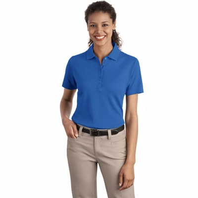 Port Authority Women's Polo Shirt: Textured With Wicking (L499)
