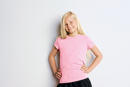 Bella Girl's T-Shirt: 100% Cotton Crew Neck Jersey (B9002)