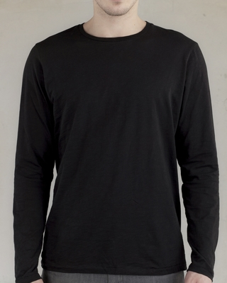alternative Men's T-Shirt: 100% Cotton Joey Slub Long-Sleeve Crew (AA4847)