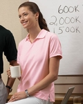 Harriton Women's Polo Shirt: 100% Cotton Jersey Short-Sleeve with Tipping (M140W)