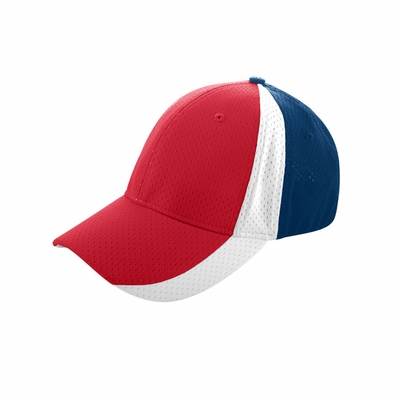 Augusta Sportswear Cap: 100% Polyester Athletic Mesh 3-Color Low Profile 6-Panel (6247)
