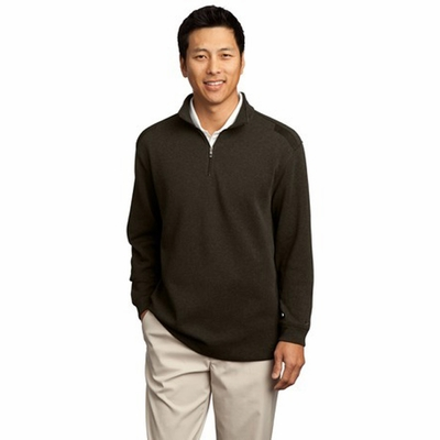 Nike Men's Sweatshirt: Heathered Half-Zip Pullover (392394)