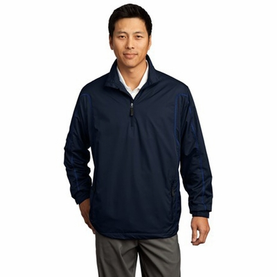 Nike Men's Wind Jacket: 100% Polyester Half Zip Pullover (393870)