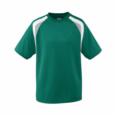 Augusta Sportswear Youth Jersey: 100% Polyester Wicking Mesh Tri-Color Raglan Sleeves (876)