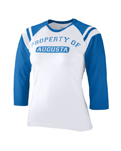 Augusta Sportswear Girls T-Shirt: Cotton Blend Legacy Contrast 3/4-Sleeve Raglan (1259)