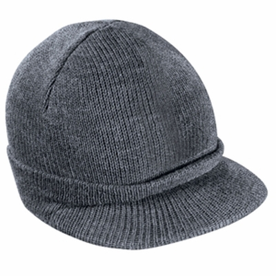 District Threads Beanie: Knit Cap with Bill (DT603)