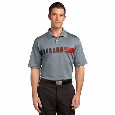 Nike Men's Polo Shirt: Dri-FIT 2 Button Chest Stripe (443211)
