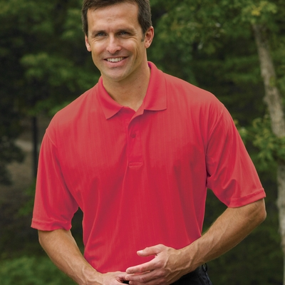 Willow Pointe Men's Polo Shirt: 100% Polyester Short-Sleeve w/ Moisture Wicking (2900)