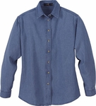 Ash City Women's Denim Shirt: 100% Cotton Long Sleeve Button-Down (78004)