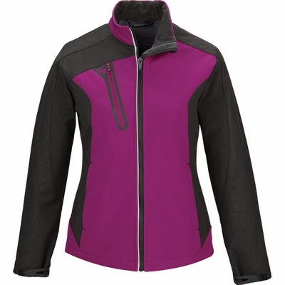 North End Women's Jacket: Stylish Full-Zip Colorblock Soft Shell  (78176)
