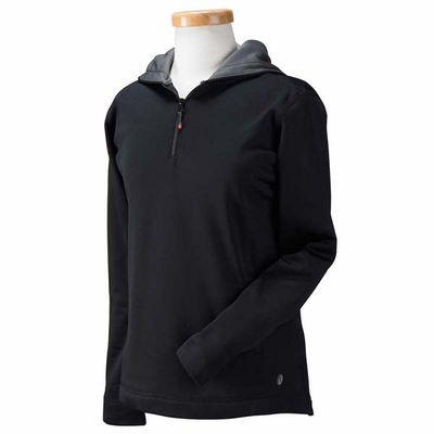 Russell Athletic Women's Sweatshirt: 100% Polyester Tech Fleece Quarter-Zip Pullover Hood (FS8EFX)