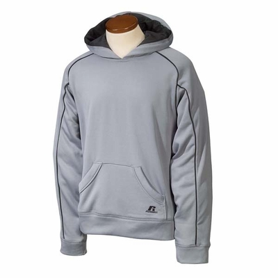 Russell Athletic Junior Boys Sweatshirt: 100% Polyester Tech Fleece Pullover Raglan Hoodie (955EFB)