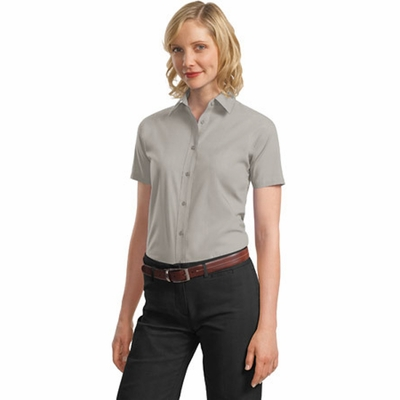 Port Authority Women's Poplin Shirt: Short Sleeve Value (L633)