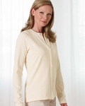 Devon & Jones Women's Cardigan Sweater: Stretch Jersey Long-Sleeve (DP170W)