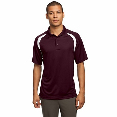 Sport-Tek Men's Polo Shirt: Dry Zone Colorblock Raglan (T476)