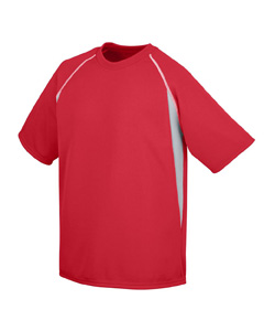 Augusta Sportswear Men's Jersey: 100% Polyester Wicking Mesh Contrast Color Raglan Sleeves (895)