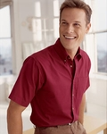 Devon & Jones Men's Twill Shirt: 100% Cotton Short-Sleeve Titan (D500S)