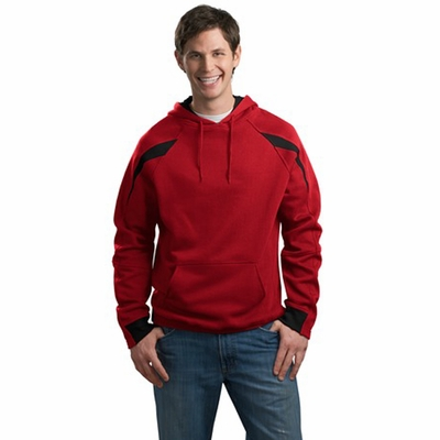 Sport-Tek Men's Sweatshirt: Color-Spliced Pullover Hooded (F266)