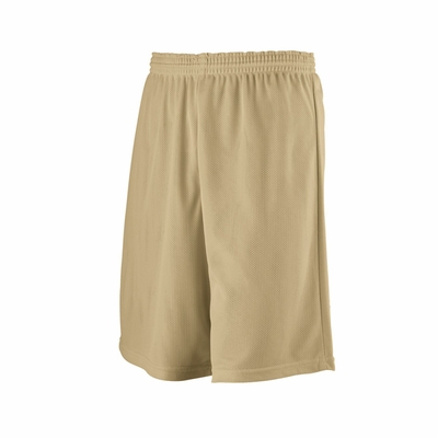 Augusta Sportswear Youth Shorts: 100% Polyester Mini-Mesh Longer Length League (739)