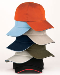Big Accessories Cap: 100% Cotton Washed Twill Sandwich (BWTS)