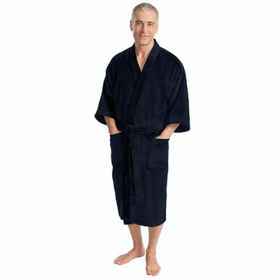 Port Authority Men's Bathrobe: 100% Cotton Terry Velour (R100)