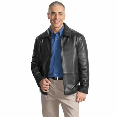 Port Authority Men's Jacket: Signature Park Avenue Lambskin (J785)