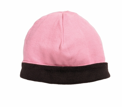 Bella Infant Beanie: 100% Cotton Reversible Knit Cap (150)