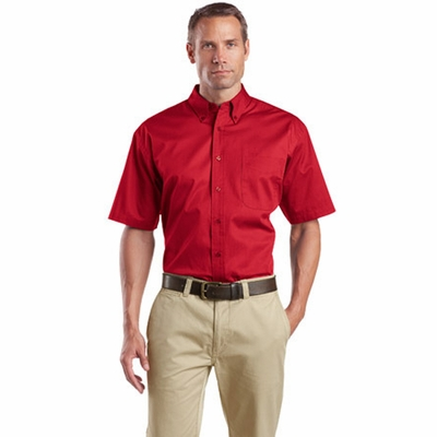 CornerStone Men's Twill Shirt: Short Sleeve Superpro (SP18)