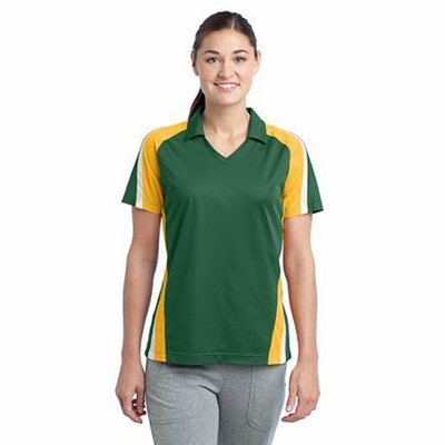 Sport-Tek Women's Polo Shirt: Tri Color Moisture Wicking Micropique(LST654)