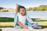 Apples & Oranges Infant Blanket: 100% Cotton Jordan Reversible (KA100)