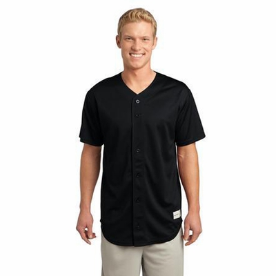 Sport-Tek Men's Jersey: Tough Mesh Full Button(ST220)