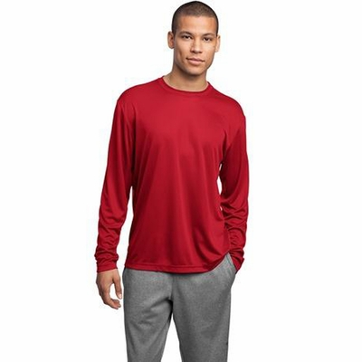 Sport-Tek Men's T-Shirt: Long Sleeve Lightweight Athletic Crewneck(ST350LS)