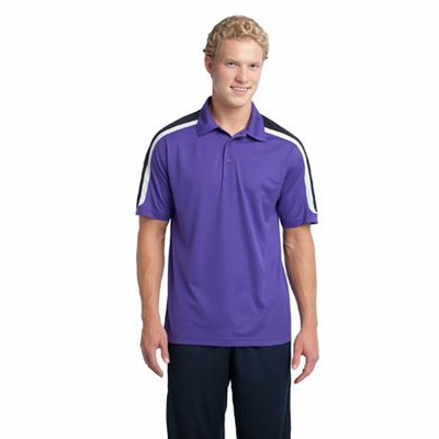 Sport-Tek Men's Polo Shirt: Tri Color Shoulder Micropique(ST658)