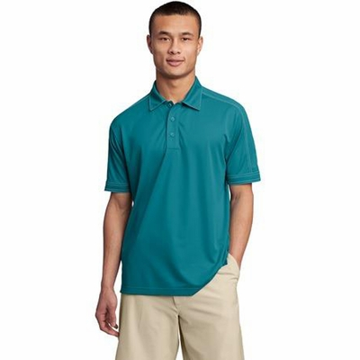 Sport-Tek Men's Polo Shirt: Moisture Wicking Micropique w/ Contrast Stitching(ST659)