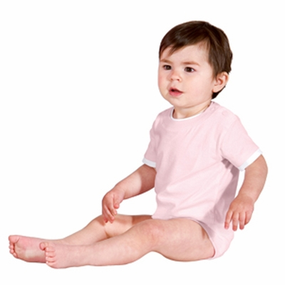 Precious Cargo Infant One Piece: 100% Cotton Short Sleeve Shoulder Snaps (CAR09)