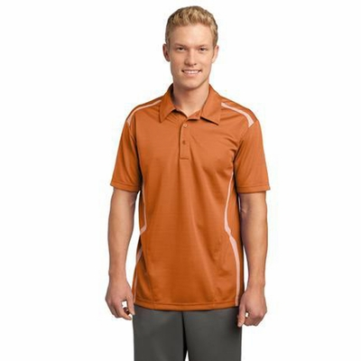 Sport-Tek Men's Polo Shirt: Vector Short Sleeve w/ Heat Transfer Piping(ST670)
