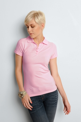 Bella Women's Polo Shirt: 5.6 oz. Mini Pique S/S (B750)