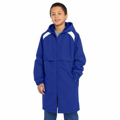 Sport-Tek Youth Parka Jacket: Long Length Seam Sealed(YJST80)